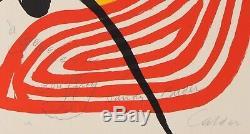 CALDER circa 1970 COMPOSITION EN SPIRALE dedicacee crayon lithographie 65x50,5