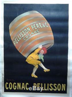CAPPIELLO Cognac PELLISSON AFFICHE ORIGINALE GRAND FORMAT années 1900/20 /90a