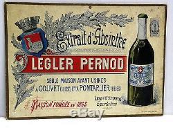 Carton Publicitaire Ancien Extrait D'absinthe- Legler Pernod