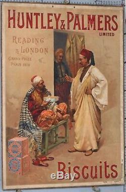 CARTON PUBLICITAIRE ANCIEN HUNTLEY PALMES BISCUITS circa 1890-1900