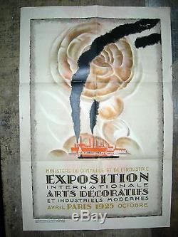 CHARLES LOUPOT affiche originale 1925 Expo Intern. ARTS DéCO et Industr. Modernes