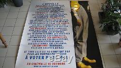COLUCHE Affiche propagande élection présidentille 1981 XXL 190 x 150 cm
