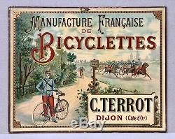 CYCLES TERROT Manufacture Française de Bicyclettes Dijon/ Panonceau Lithographié