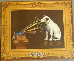 Carton Pub Grammophone Chien Rare