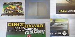 Circuit Paul Ricard Affiche Essais Course Internationale 1971 Original Moto Rare