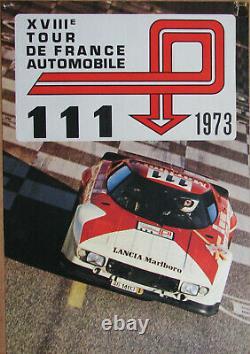 D561 Tour De France Automobile 1973 Lancia Stratos Hf 74,5 X 33,5 CM