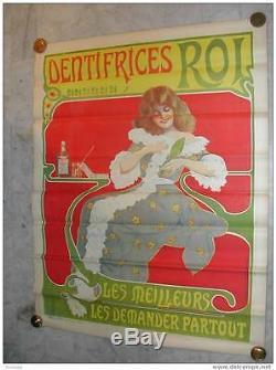 DENTIFRICES ROI /Tooth Paste / Art Nouveau /Exceptionnel / Très bon état