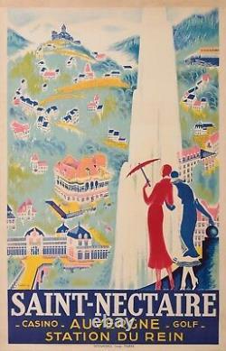 DE VALERIO ROGER AFFICHE ANCIENNE CASINO SAINT NECTAIRE AUVERGNE, Circa 1925-35