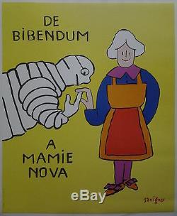 De BIBENDUM À MAMIE NOVA par Savignac AFFICHE ANCIENNE ORIGINALE /PR33