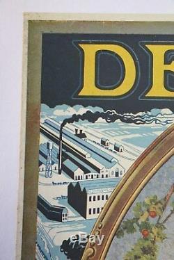 Deering Harvester 1929 Poster Affiche Originale Agricole Tracteur Tractor Ih