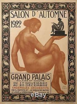 Dorignac Affiche Ancienne Art Deco Salon D'automne 1922 Paris France