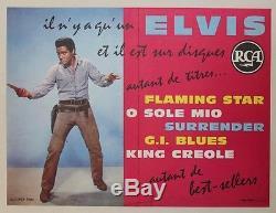 ELVIS PRESLEY sur DISQUES RCA Affiche originale entoilée 1960