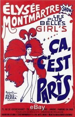 ELYSEE MONTMARTRE SHOW ça c'est Paris Affiche d'intérieur originale entoilée