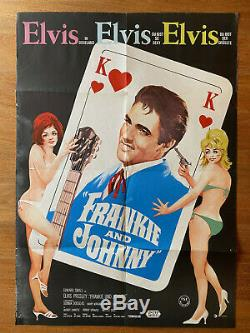 Elvis Presley movie poster original german Frankie and Johnny