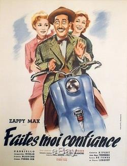 FAITES MOI CONFIANCE Affiche originale entoilée (Gilles GRANGIER / Zappy MAX)