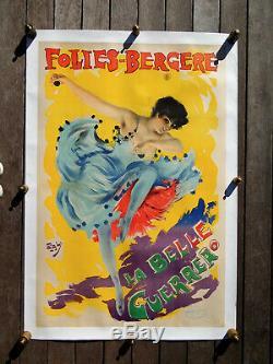 FOLIES-BERGERE AFFICHE ANCIENNE-LA BELLE GUERRERO-signée PAL