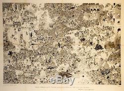 GARGANTUA de RABELAIS Gravure originale entoilée DUBOUT 1941 59x78cm