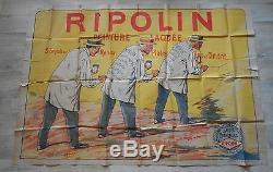Grande Affiche Publicitaire Ripolin Peinture 185 CM X 129 CM Debut 20 Eme Siecle
