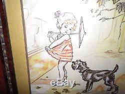 Germaine Bouret Aquarelle Originale Fait A La Main Par L Artiste Signee 1939