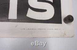 Grande Affiche Ancienne litho PUB / SPORT CATCH. 118X80cm superbe état