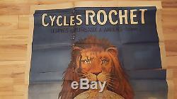 Grande affiche 1900 Cycle ROCHET 116/160 cm