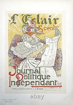 H. THOMAS Journal L'ECLAIR, Maîtres de l'Affiche 1900. Chromolithographie