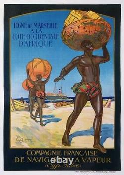 JACQUES CARTIER Cie FRANCAISE DE NAVIGATION A VAPEUR CYPRIEN FABRE cir 1930