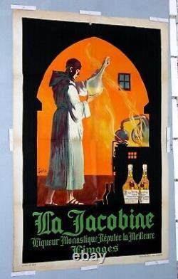 JEAN CARLU circa 1920 LA JACOBINE LIQUEUR LIMOGES VINTAGE FRENCH DRINK POSTER