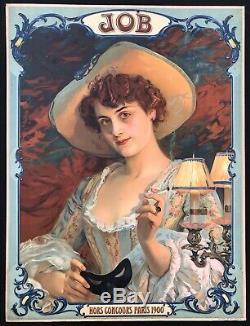 JOB Papier à Cigarettes Superbe Élégante 1900 / panonceau lithographié
