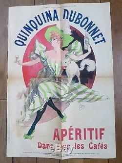 JULES CHERET Quinquina Dubonnet femme au chat affiche d'époque
