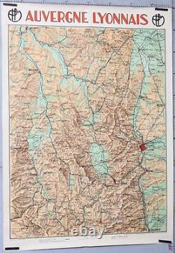 Jean Dollfus 1931 Affiche Ancienne Trains Plm Auvergne Lyonnais