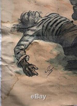 Jules Chéret Affiche original Fête de la Charité Atelier Chèret 1893
