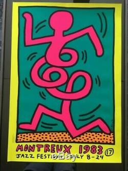 Keith Haring ORIGINAL SERIGRAPHIE AFFICHE Montreux Jazz Festival