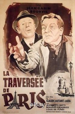 LA TRAVERSEE DE PARIS Affiche entoilée Claude AUTANT-LARA, Jean GABIN, BOURVIL