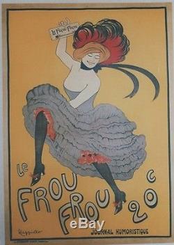 LE FROU FROU Affiche entoilée réédition offset années 70 CAPPIELLO 49x69cm