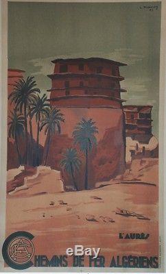 L'AURES Affiche originale entoilée 1948 Litho L. KOENIG 64x104cm