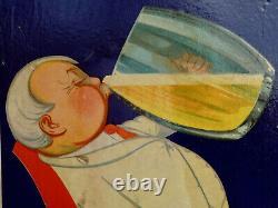Le BON BOCK ATLANTIQUE Bière/Carton Publicitaire Ancien