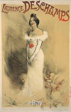 Leandre Affiche Ancienne Laurence Deschamps Cabaret Theatre CI 1900
