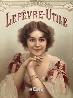 Lefèvre-Utile Panonceau lithographié 1898 / LU