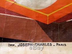 Leon DUPIN Affiche Originale de 1926 Faïences Porcelaines CARLES BEZIERS