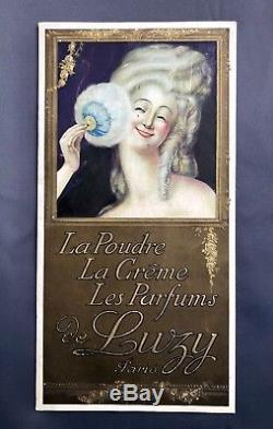 Leonetto Cappiello Poudre de Luzy Rarissime panonceau lithographié 1918