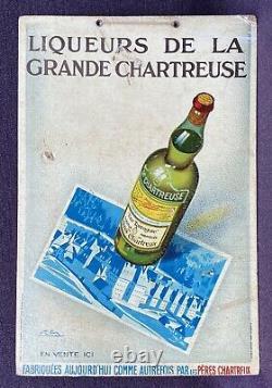 Liqueur de la Grande Chartreuse Une Tarragone Rare Panonceau signé G. Favre