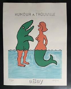 Lithographie originale Humour à Trouville 1985 Raymond Savignac (12/90)
