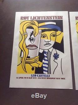 Lot 2 Affiche Poster Roy Lichtenstein Galerie Leo Castelli 1979 New York Pop Art