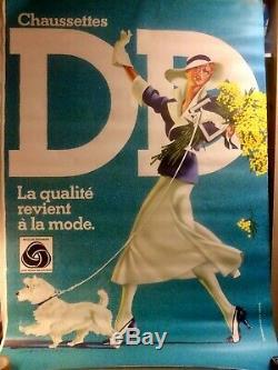 Lot de 3 Affiches Originales CHAUSSETTES DD Wooblendmark 1990/95 118X168