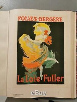 Loue Fuller Cheret Maître De L'affiche Planche Originale Litho 73 Chaix