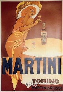 MARTINI Affiche originale entoilée typo vers 1960 73x103cm