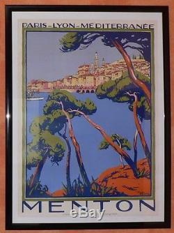 Menton Superbe Affiche De Rogers Broders 1923 Plm
