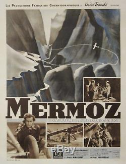 MERMOZ Affiche originale entoilée (Louis CUNY, Robert HUGUES-LAMBERT) 1943
