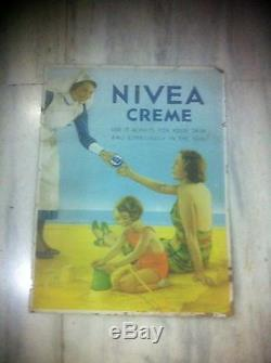 Museum Affiche 1930 Nivea Creme Ancienne Pub Poster Rare Printed In England